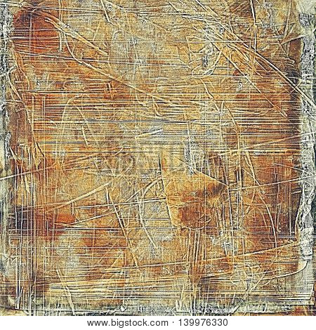 Retro texture used as abstract grunge background. Shabby backdrop with different color patterns: yellow (beige); brown; gray; red (orange)