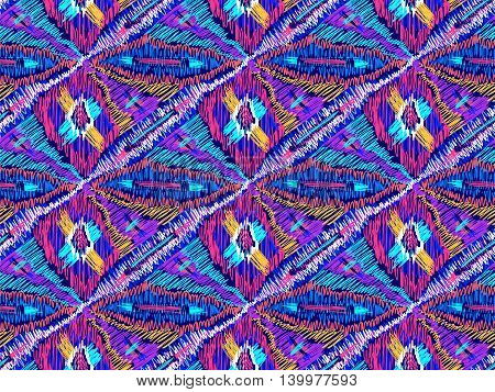 Ethnic abstract geometric pattern. Native artistic ornament background. Ethnic zigzag simple texture. Unusual fabric design. Trendy tribal sketch ornate.