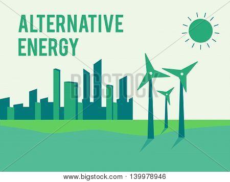 Alternative energy eco or green generators eps10