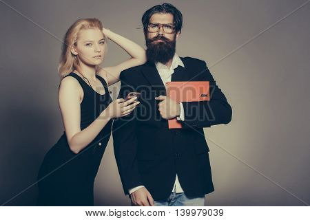 Serious Woman And Man