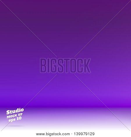 Vector,empty White Floor Gradient To Vivid Purple Studio Room Background ,template Mock Up For Displ