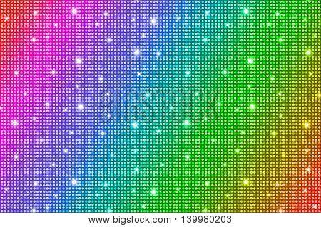 Rainbow Shining Rounds Vintage Luxury Texture Background
