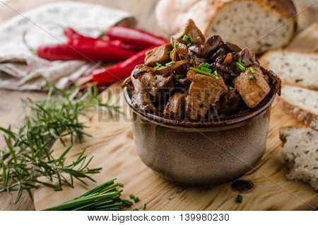 Teriyaki Chicken With Bread