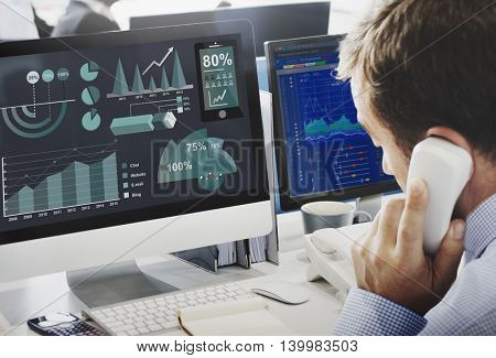 Analytics Statistics Business Progress Analysis Concept