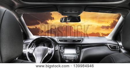 car and sky