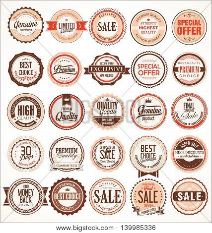 Retro Vintage Badges And Labels Collection 2.eps