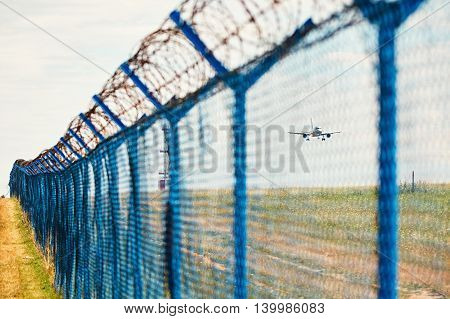 Barbed Wire Around Airport