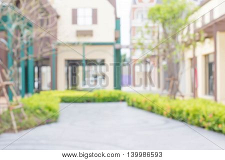 blurred background street in the city .