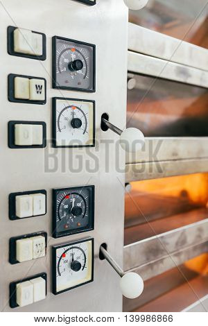 Multi level industrial baking oven in bakery