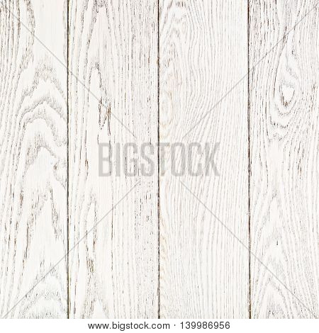 wall of white painted oak boards, background