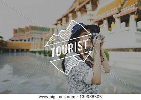 Tourist Destination Exploration Holiday Journey Concept