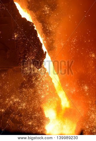 Iron and steel industry in steel plant