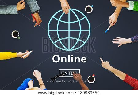 Online Connection Social Networking Media Concept