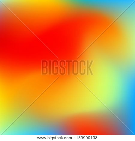 Abstract blur colorful gradient background with red, yellow, blue, cyan and green colors for deign concepts, web, presentations and prints. Vector illustration.