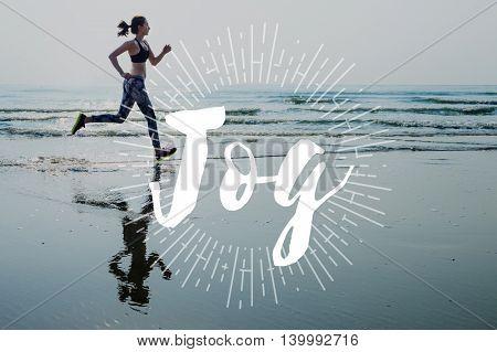 Jog Run Running Jogging Sprint Activity Concept