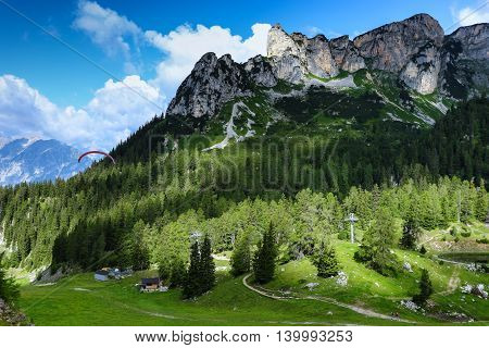 Mountain scenery in the Alps Achensee Area Tirol Austria