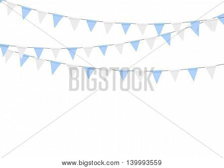 Oktoberfest flag decoration. Decorated in traditional colors of Bavaria.
