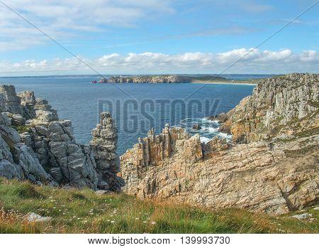 coastal scenery at the Crozon peninsula in Brittany France