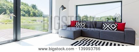 Living Room With The View Of The Garden