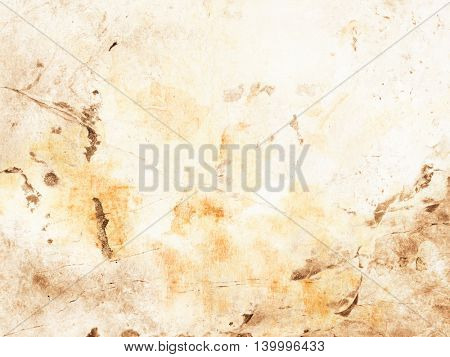 Beige brown background in soft earth tones - abstract faded coffee stains
