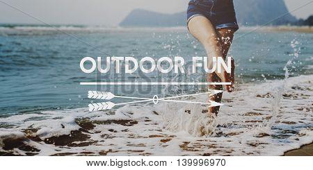 Outdoor Fun Activities Enjoyment Pleasure Funny Concept
