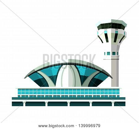 vector emblem design element the airport building isolated on white background
