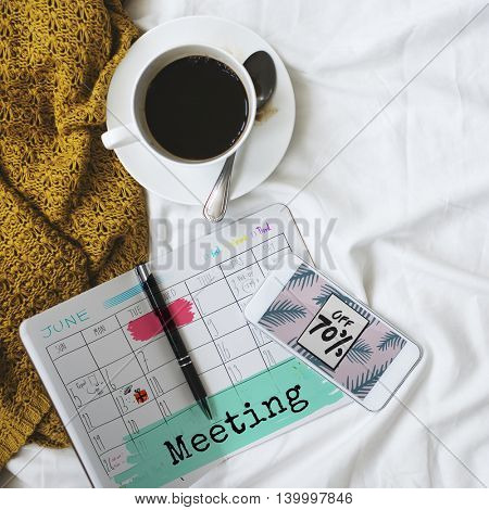 Meeting Agenda Planner Reminder Calendar To Do Concept