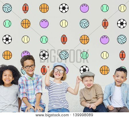 Kids Games Ball Sport Graphics Concept