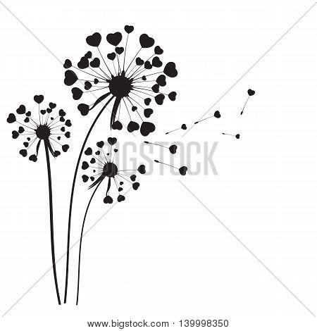 Abstract Dandelion on White Background Vector Illustration EPS10