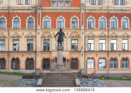 Vyborg, Russia - July 19, 2016: Sculpture Of Torgils Knutsson