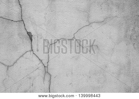 Grunge Cracked Old Concrete Wall
