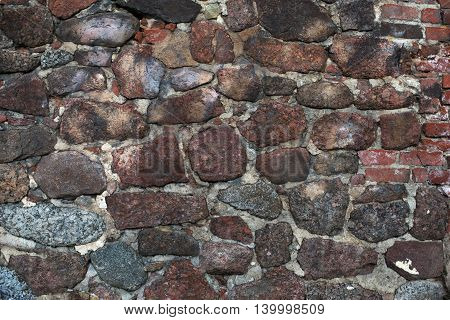 Part Of An Ancient Stone Wall