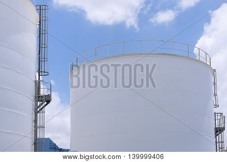 The industry big tank with the sky