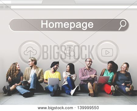Big Data Domain Web Page SEO Concept