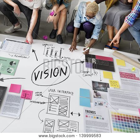 Vision Inspiration Motivation Objective Planning Concept
