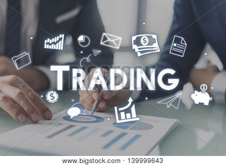 Trading Exchange Deal Business Economy Concept