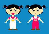 Cute Toddler Girls poster