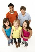 foto of 13 year old  - Group Of Five Young Children In Studio - JPG