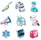 pic of flashers  - Vector cartoon style icon set - JPG