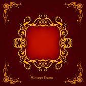 stock photo of gobelin  - Vintage Frame - JPG