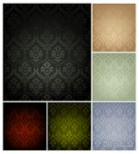 stock photo of old-fashioned  - Seamless Wallpaper Pattern - JPG