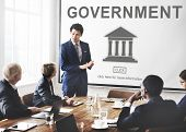 Government Administration Pillar Graphic Concept poster