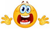 foto of hysterics  - Vector design of a funny Panic emoticon - JPG