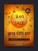 Hot Summer Sale and Discounts, Summer Sale Poster, Sale Banner, Sale Flyer, Limited Time Sale, Upto  poster