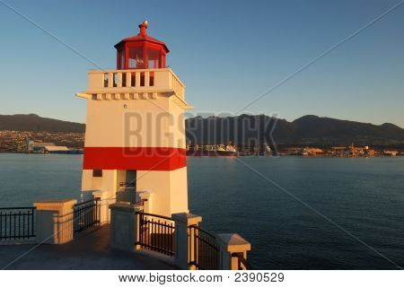 Brokton Point Lighthouse, Stanley Park, In The Morning