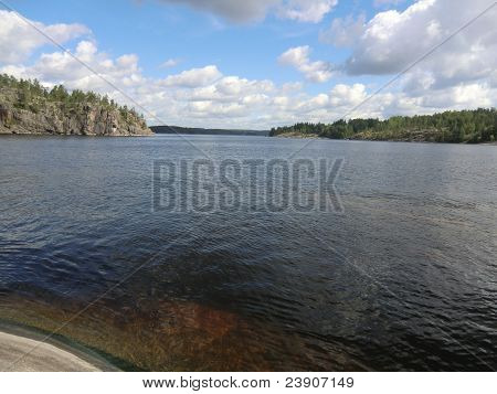 Gulf on Ladoga lake
