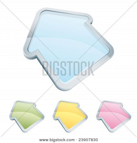 Home Icon Set In 4 Transparent Colors