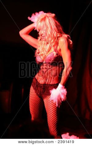 A Blonde Burlesque Dancer