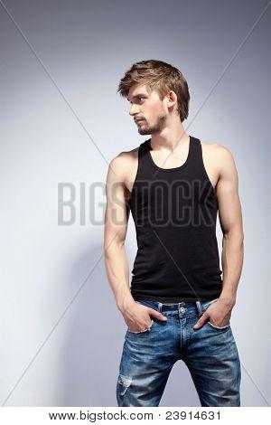 Постер, плакат: Мода человек, холст на подрамнике