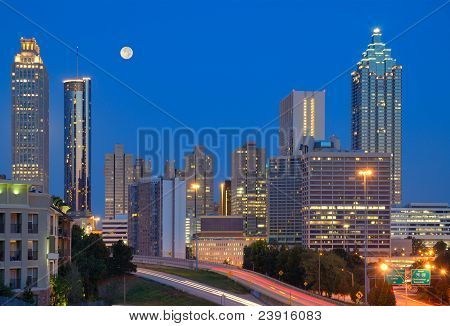 Downtown Atlanta Cityscape